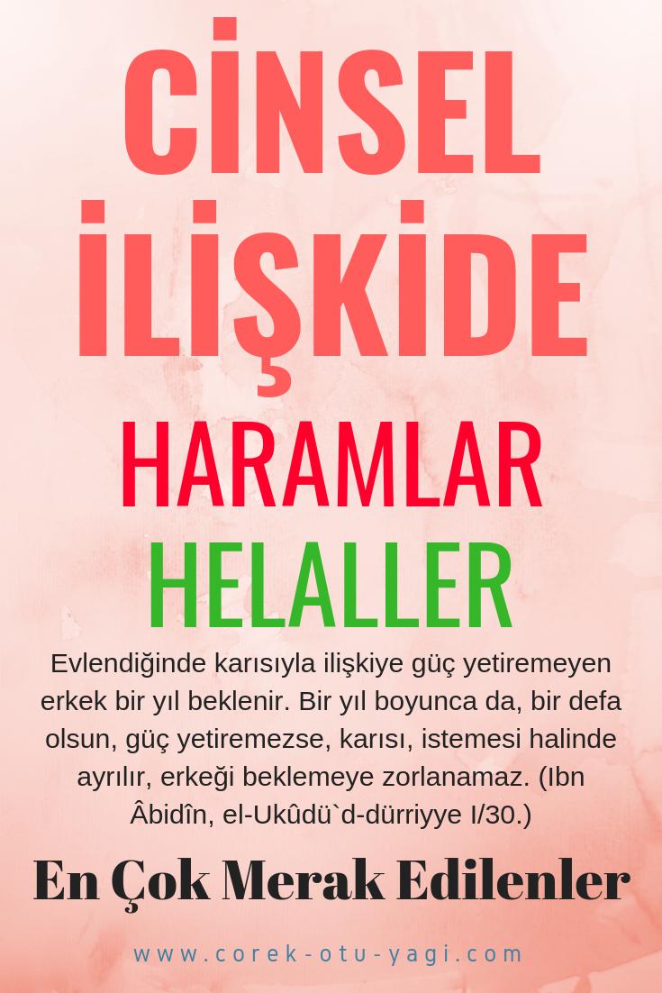 CİNSEL İLİŞKİDE HARAMLAR – HELÂLLER