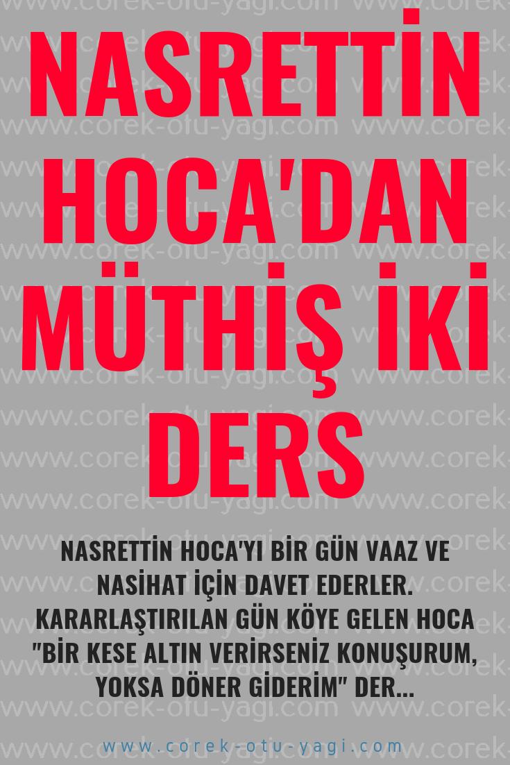 NASRETTİN HOCA'DAN MÜTHİŞ İKİ DERS!