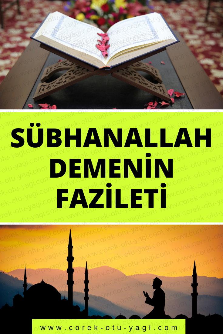 Sübhanallah, Elhamdülillah Ve Allahu Ekber Demenin Fazileti | www.corek-otu-yagi.com
